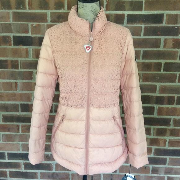 163d7d48b4004 NWT Bernardo peach packable puffer jacket